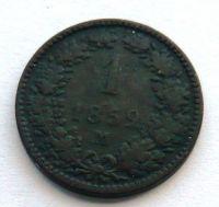Rakousko 1 Krejcar - STAV 1859 M