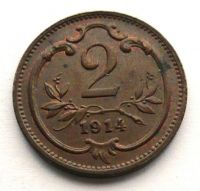 Rakousko 2 Haléř 1914 STAV