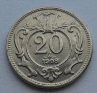 Rakousko 20 Haléř 1908 STAV