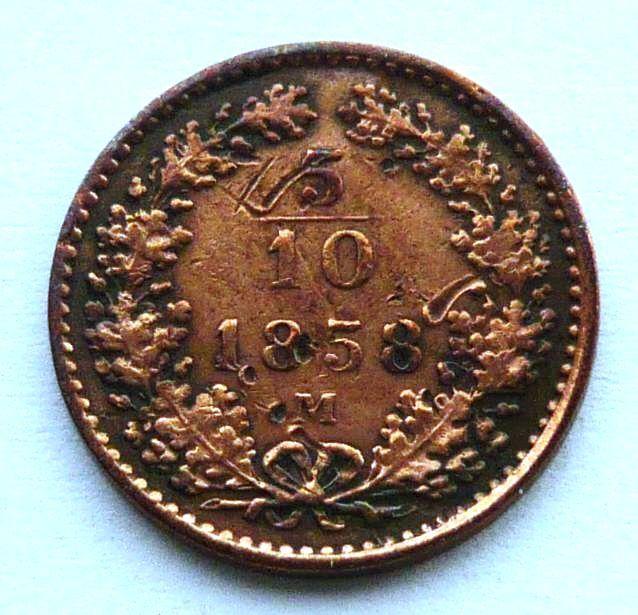 Rakousko 5/10 Krejcar 1858 M