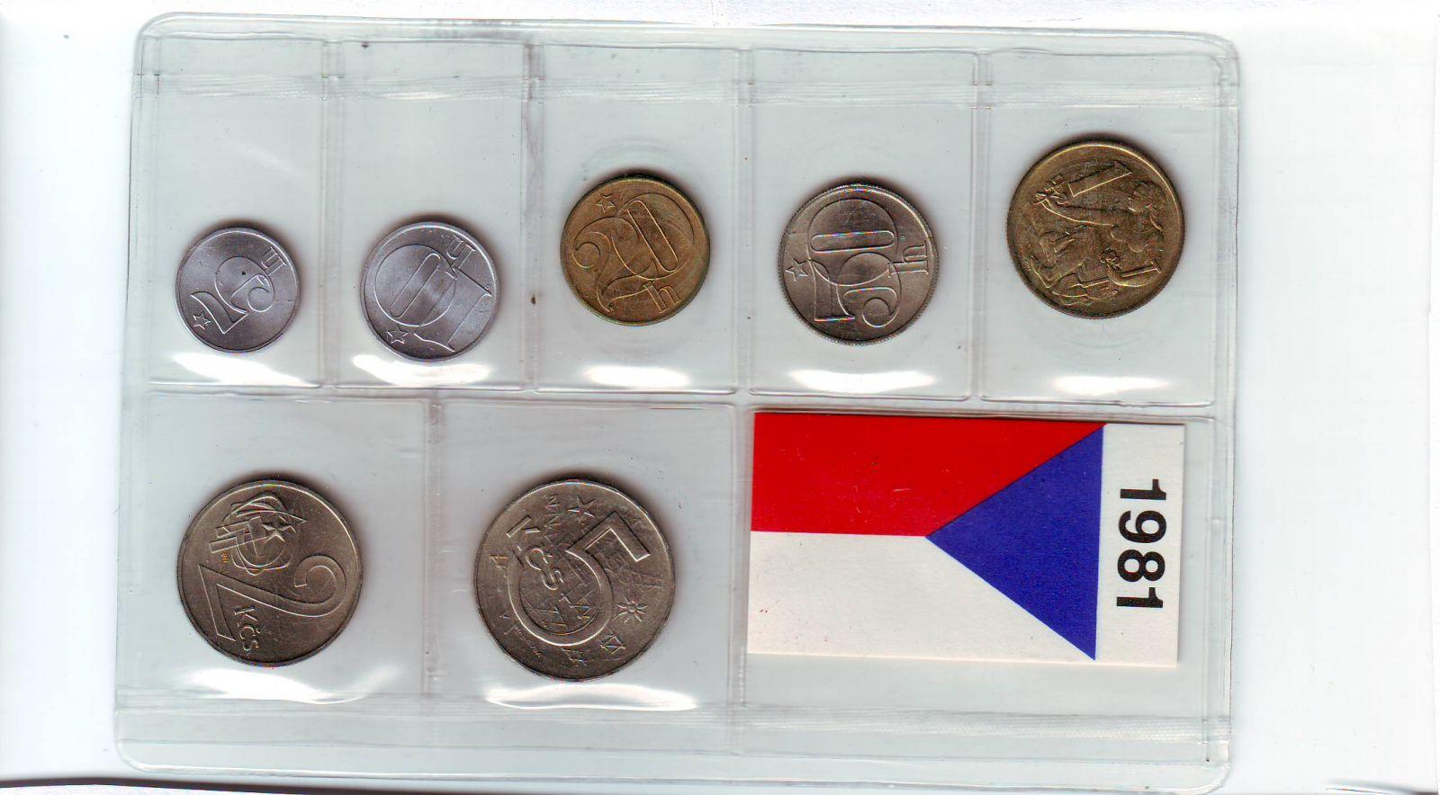 Ročníková sada oběžných mincí ČSSR (1981), stavy 0/0