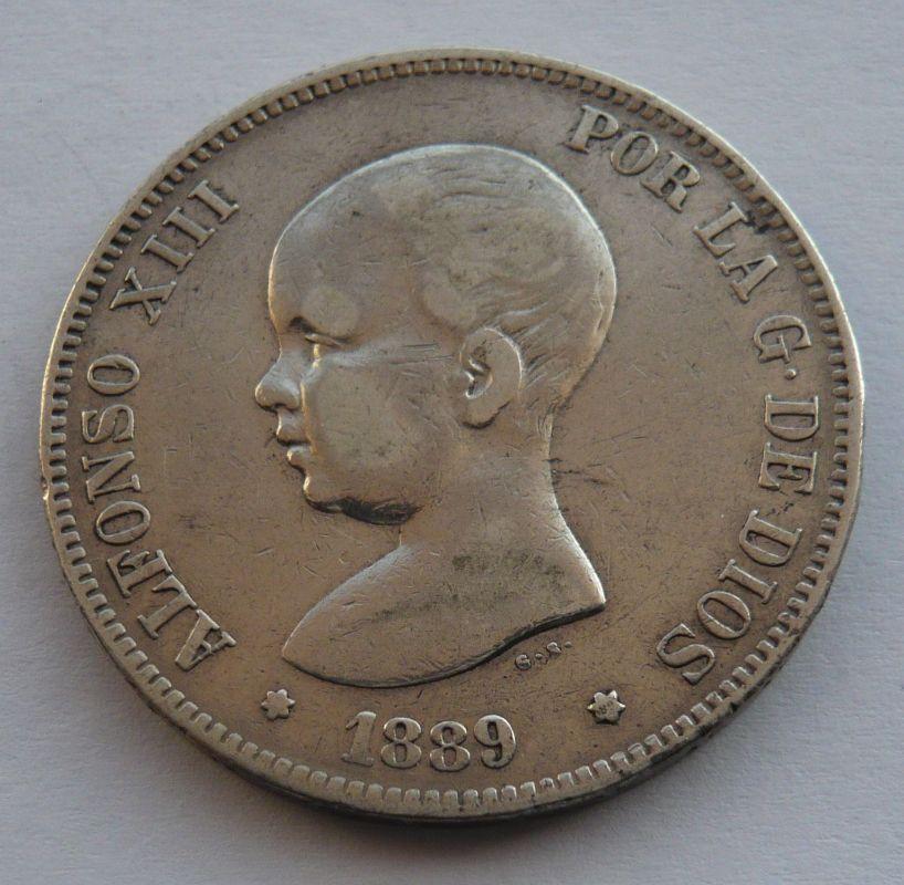 Španělsko 5 Peseta 1898 Alfonzo XIII.