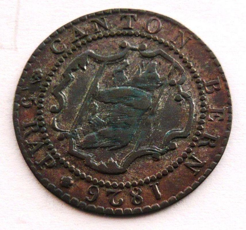 Švýcarsko Bern 5 R 1826
