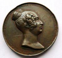 Belgie - r.1850 Marie Luisa ORLEÁNSKÁ úmrtní med.