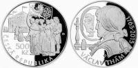 500 Kč(2015-Václav Thám), stav PROOF, etue a certifikát