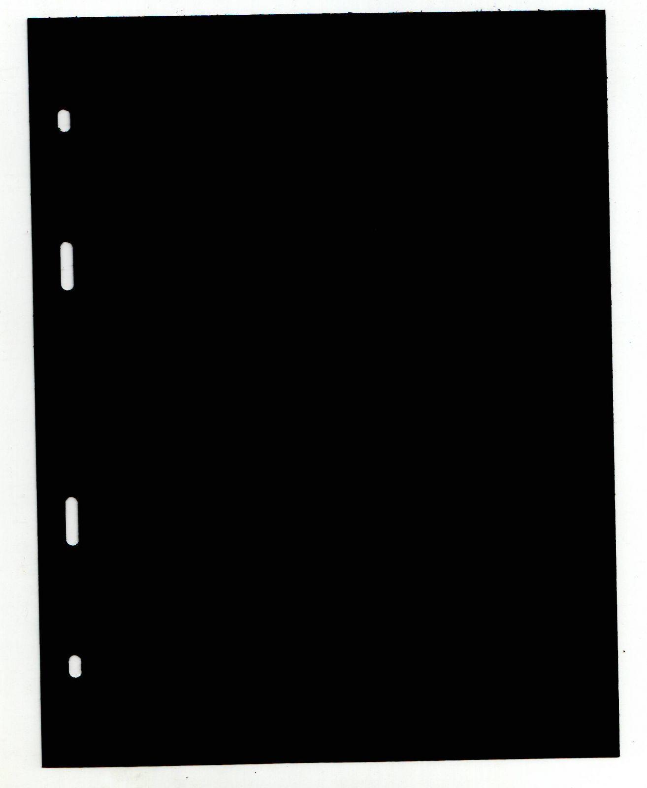 List dělící do alba BARON 1 (na mince), černý