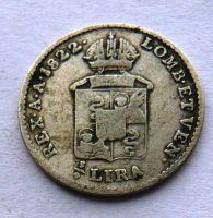 Rakous. Itálie 1/4 Lira 1822 V  František II.