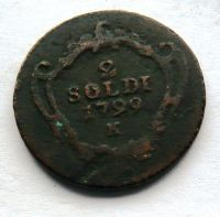 Rakousko 2 Soldo 1799 K František II.