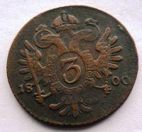 Uhry 3 Krejcar 1800 B  František II. STAV