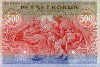 KOPIE 500Kč/1919/, stav UNC perf. NEPLATNÉ