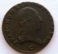 Čechy 1 Krejcar 1800 C František II. STAV
