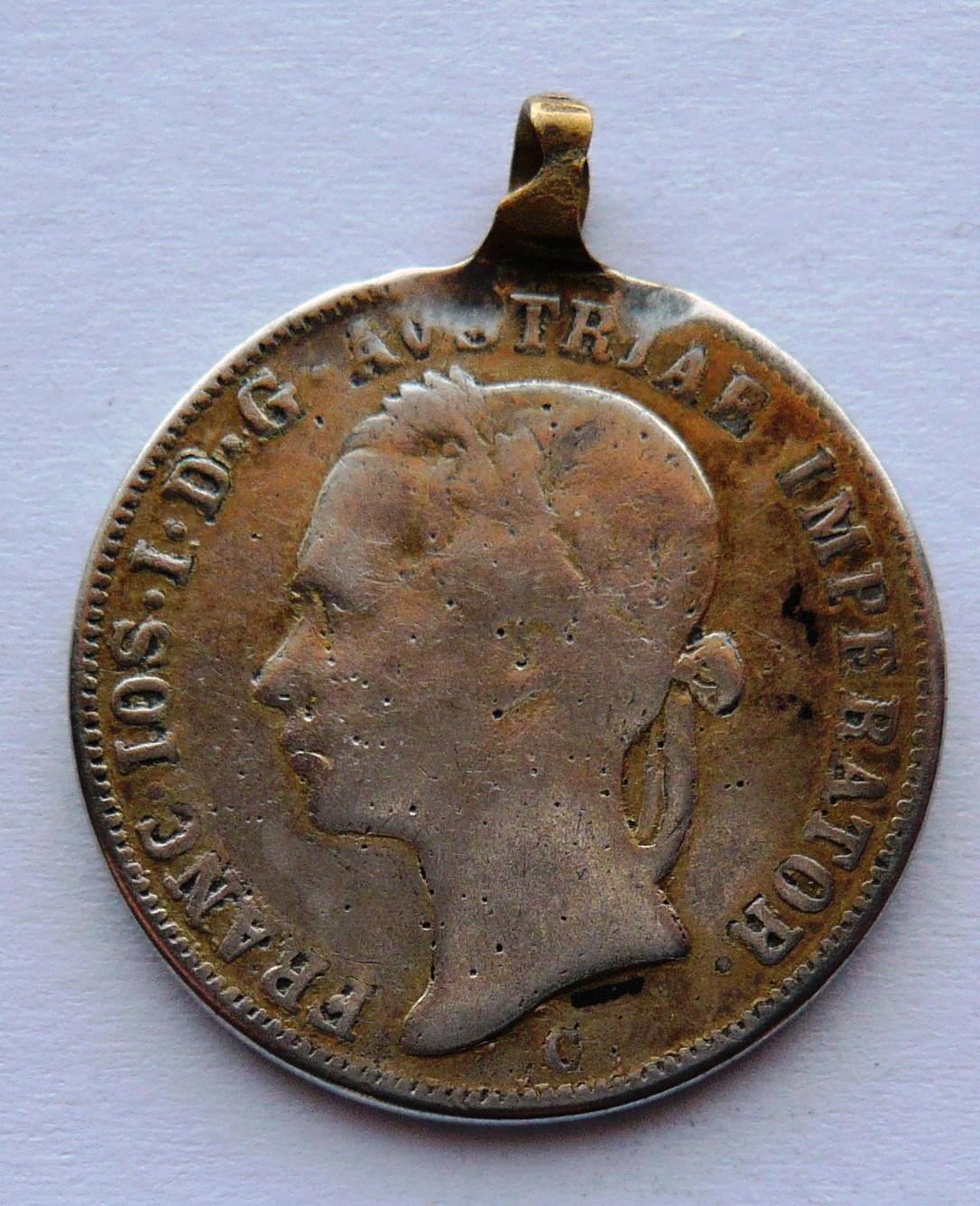 Čechy - dobové ouško 20 Krejcar b.l. hlava vlevo