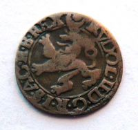 Čechy Jáchymov malý Groš 1597 Rudolf II.