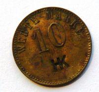 Německo - WERT 10 Pf. mosaz b.l.