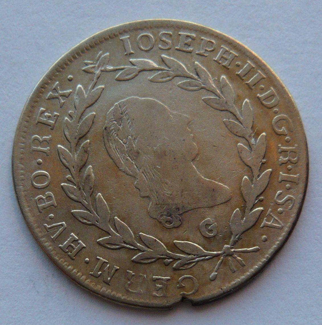 Rakousko 20 Krejcar 1784 G Josef II.