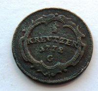 Rakousko G 1/2 Krejcar 1772 G M.Terezie