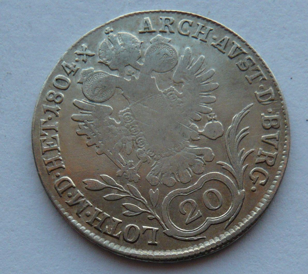 Uhry B 20 Krejcar 1804 František II.