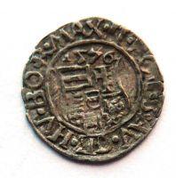 Uhry KB Denár 1576 Maxmilián II.