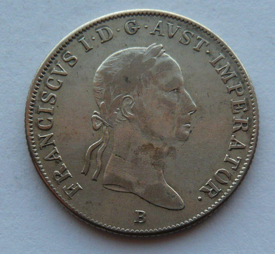 Uhry orlice 20 Krejcar 1835 B František II.
