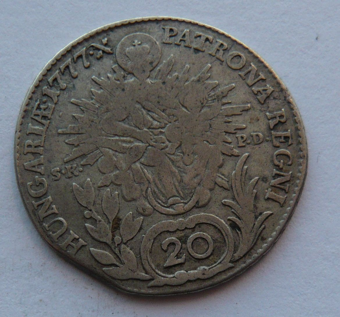 Uhry SKPD 20 Krejcar 1777 M.Terezie
