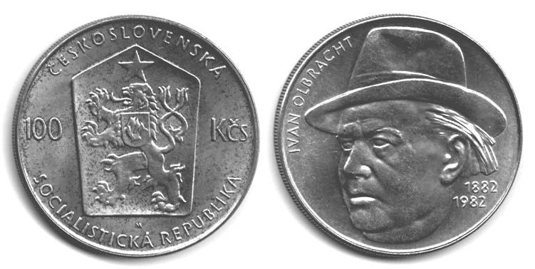 100 Kčs(1982-Ivan Olbracht), stav 1+/0