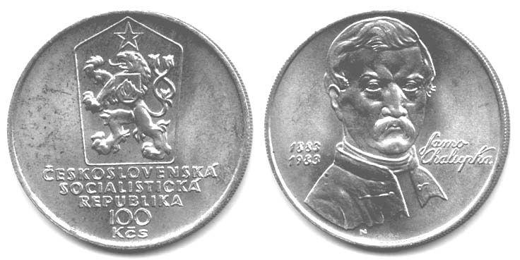100 Kčs(1983-Jano Chalupka), stav 1+/0