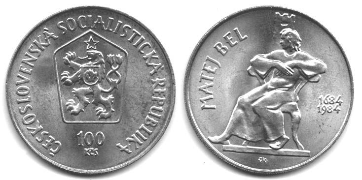 100 Kčs(1984-Matej Bel), stav 1+/0