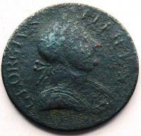 Anglie 1/2 Pence 1775 Jiří III.