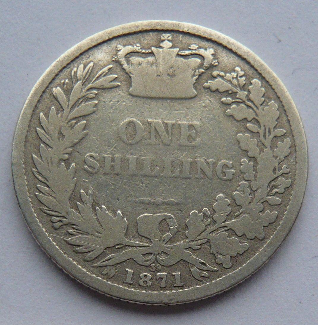 Anglie Schilling 1871 Viktorie