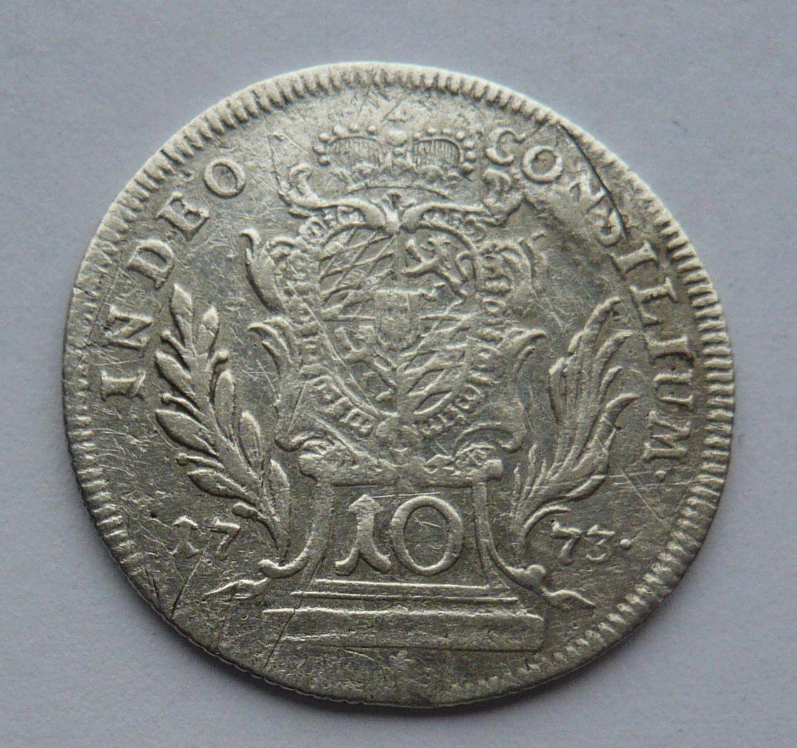 Bavorsko 10 Krejcar 1773 Max. Josef