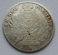 Bavorsko 20 Krejcar 1764 Max. Josef