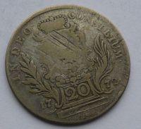 Bavorsko 20 Krejcar 1772 Max. Josef