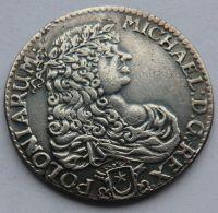 Polsko 1/2 Tolar 1671 Michael - KOPIE