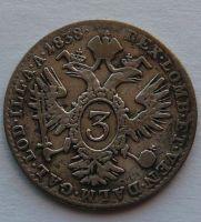 Rakousko 3 Krejcar 1838 A Ferdinand V.