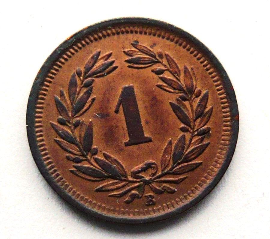 Švýcarsko 1 Rap 1908