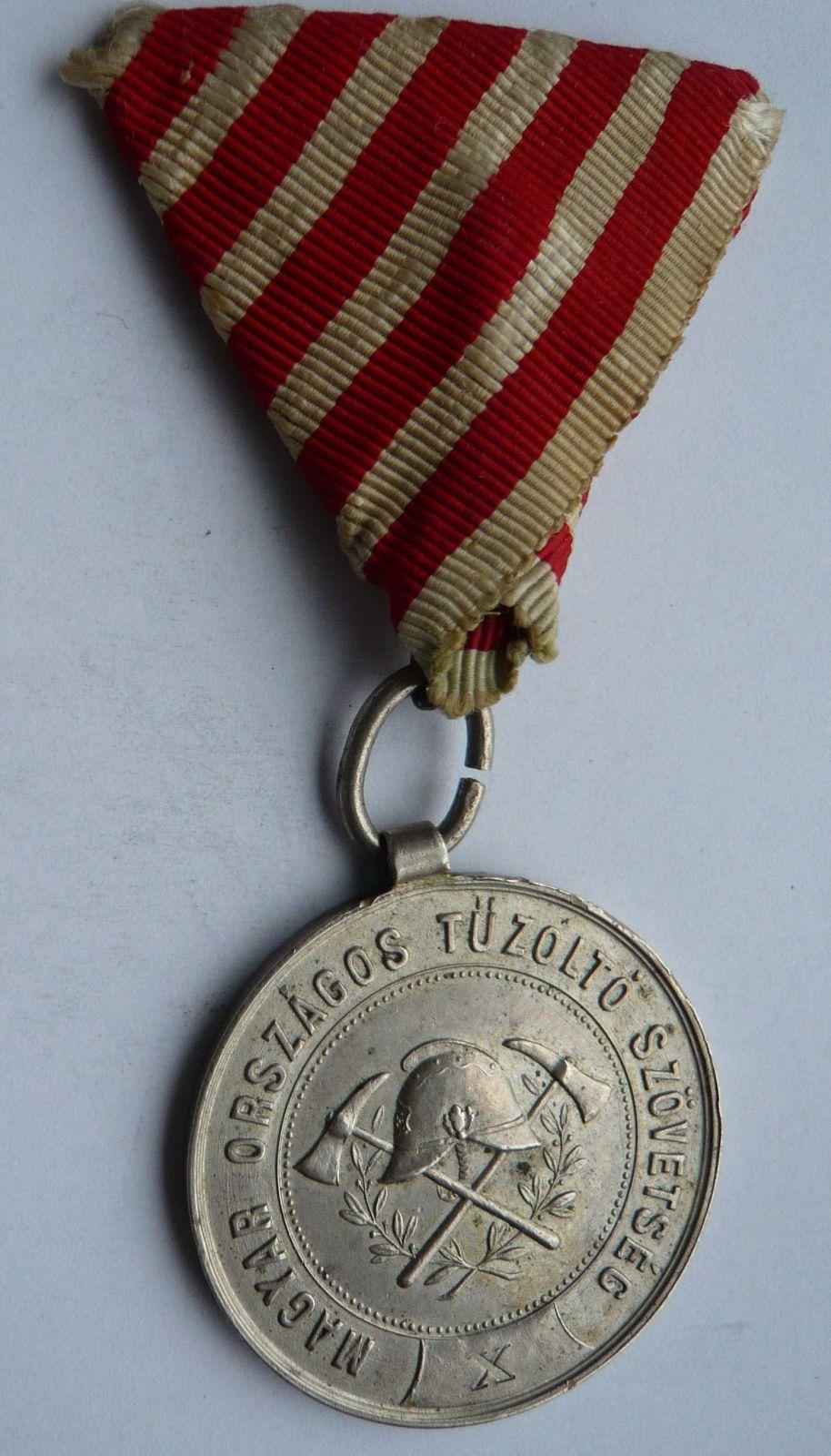Uhry - hasiči Za X let služby 1884 Ag