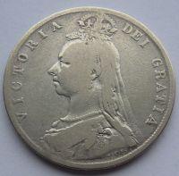 Anglie 1/2 Cronen 1890 Viktorie