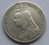 Anglie Schilling 1889 Viktorie