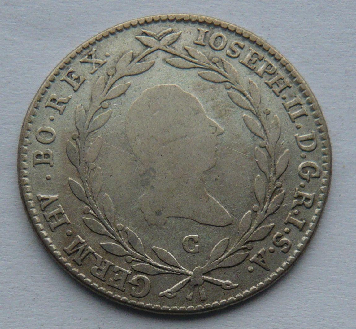Čechy 20 Krejcar 1783 Josef II.