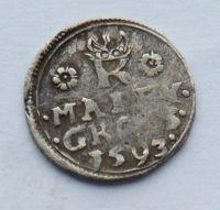 Čechy Jáchymov malý Groš 1593 Rudolf II.