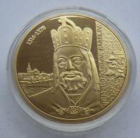ČR Karel IV. - zlacená medaile