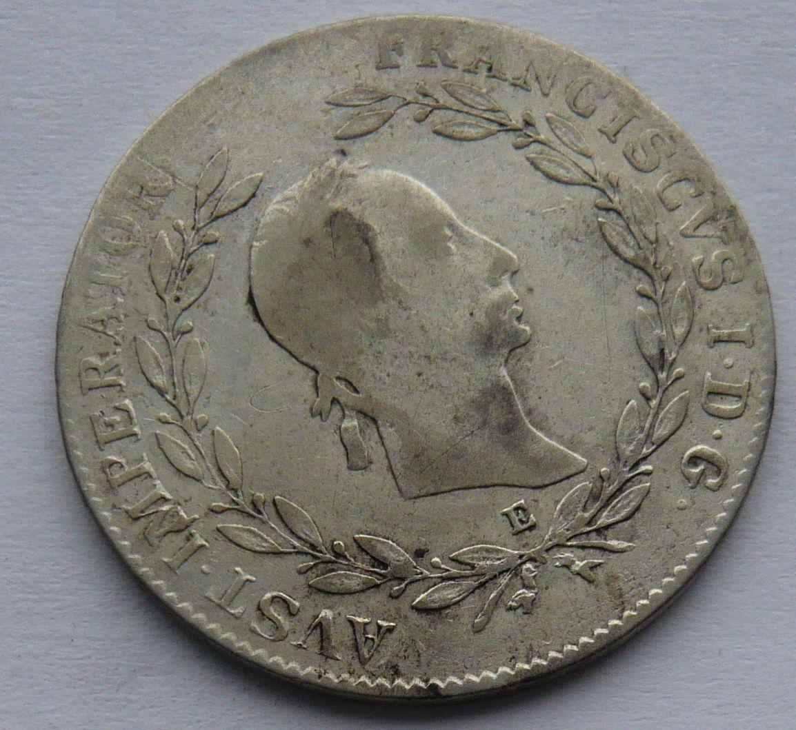 Rakousko E 20 Krejcar 1830 František II.