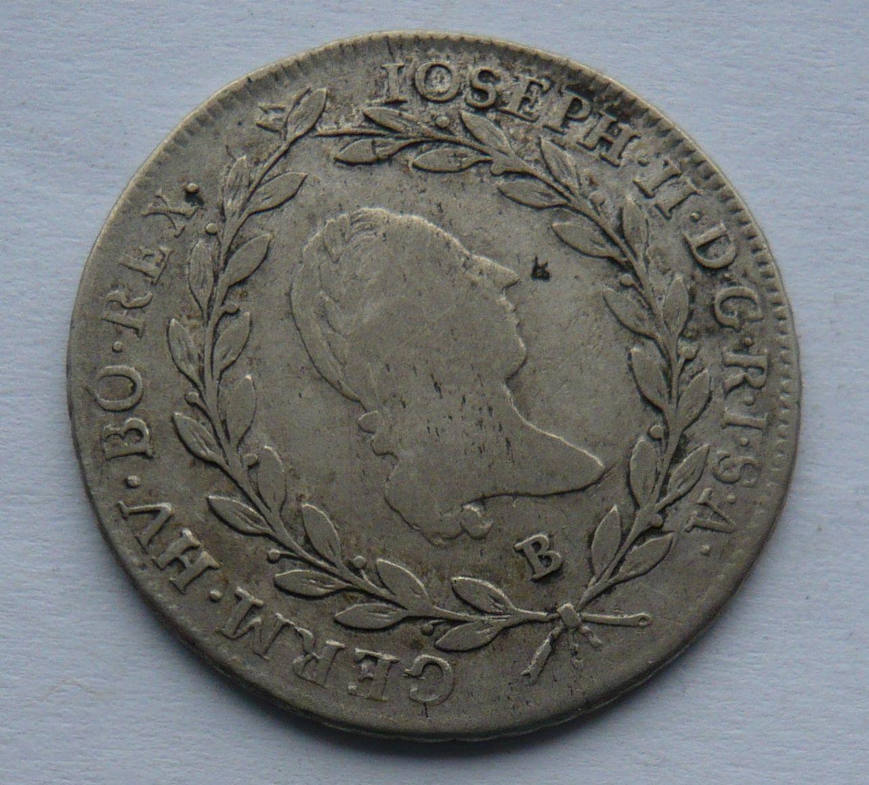 Uhry - B 20 Krejcar 1787 Josef II.