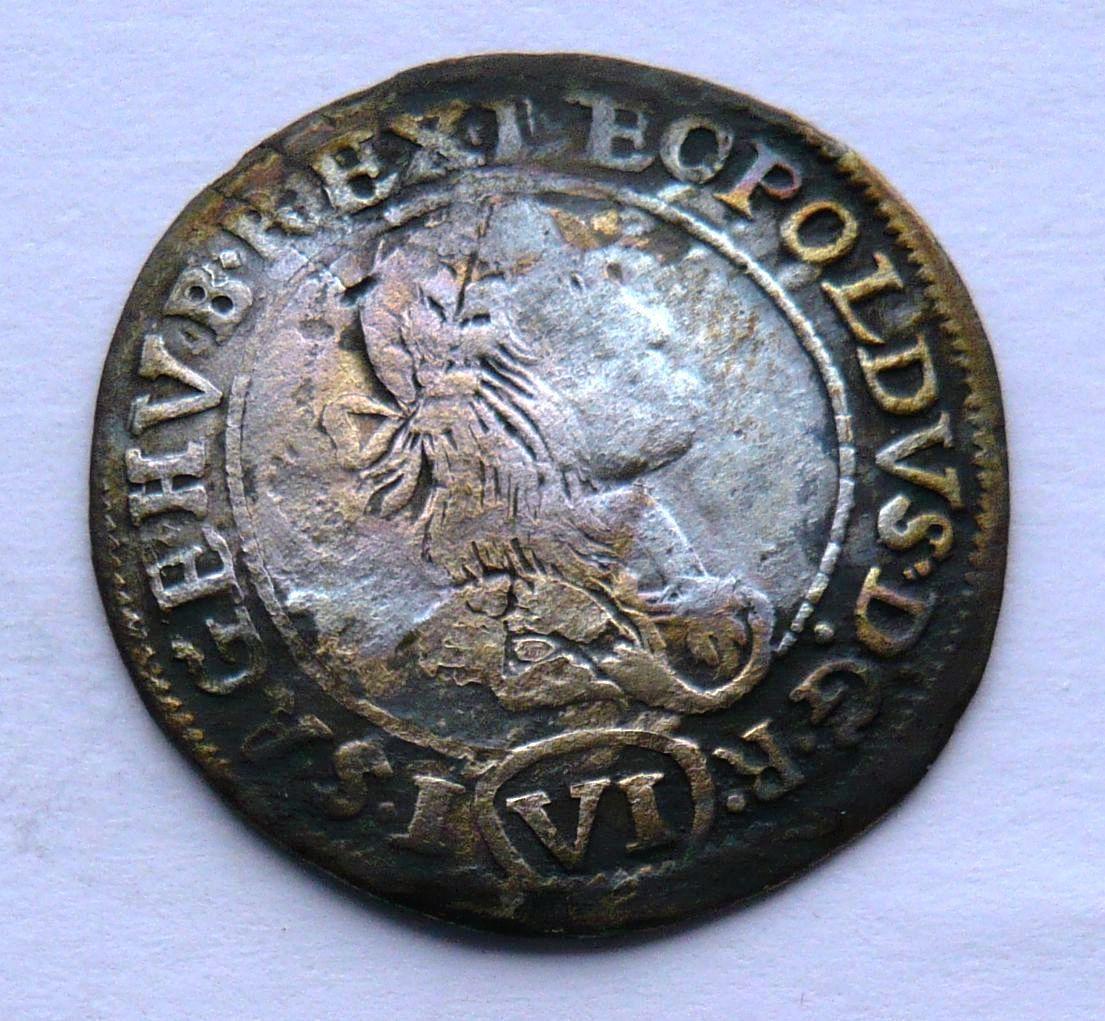 Uhry - Kremnica KB 6 Krejcar 1673 Leopold I.