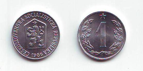 1 Haléř(1986), stav RL (dokonalá zachovalost)