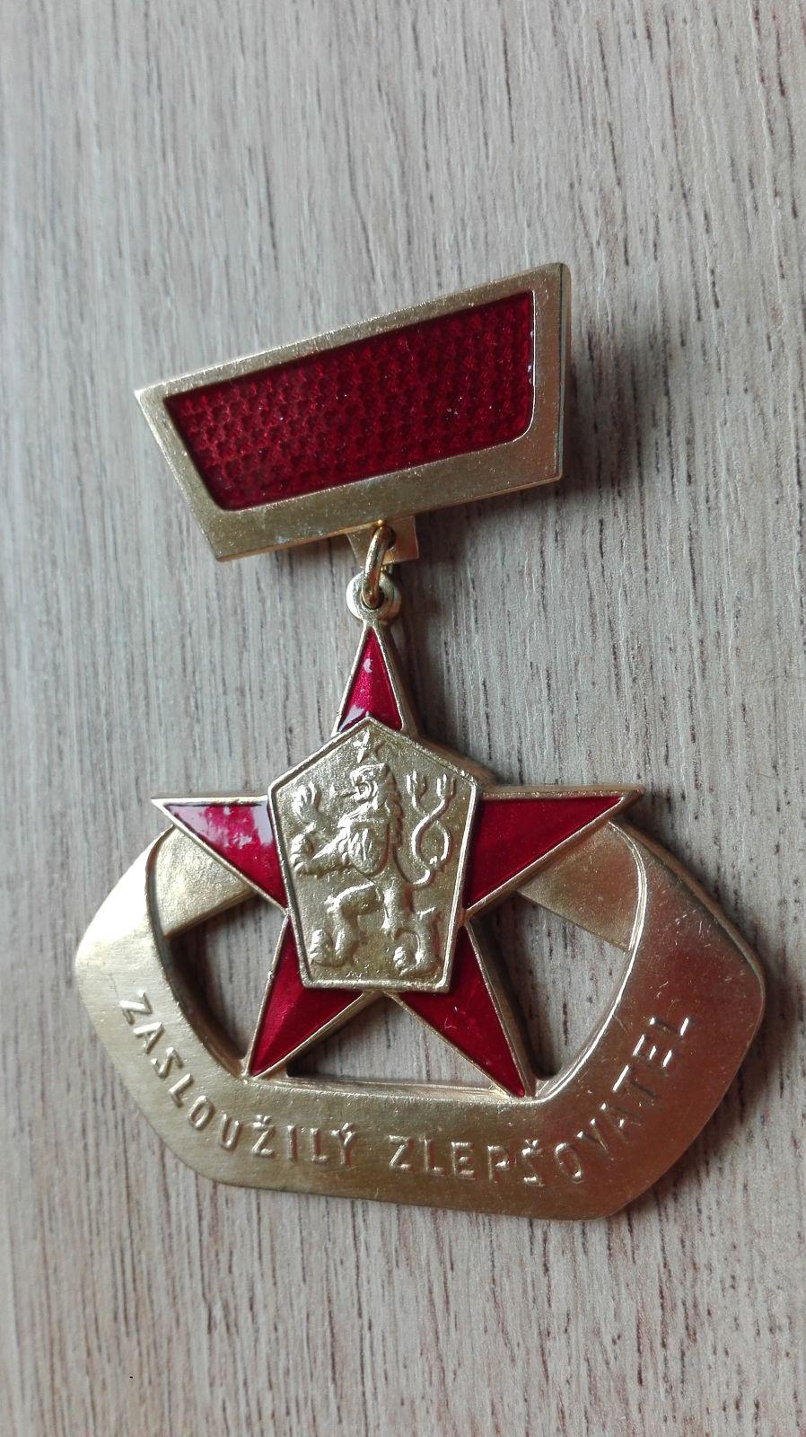 ČSSR - Zasloužilý zlepšovatel zl.stupeň