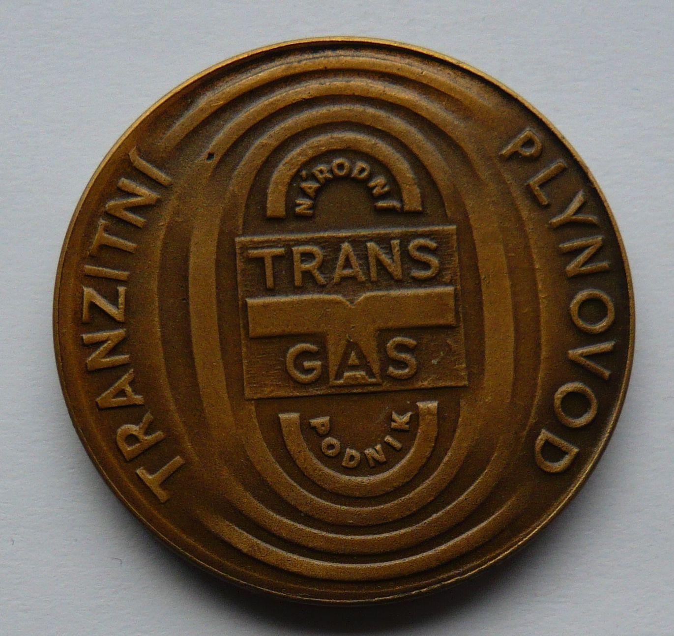 ČSSR transitní plynovod Transgas