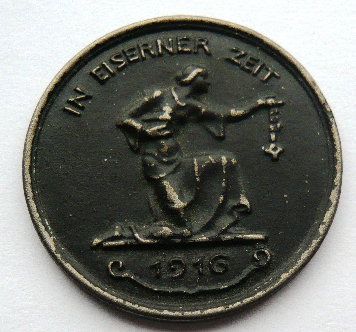 Německo medaile na drahofu 1916