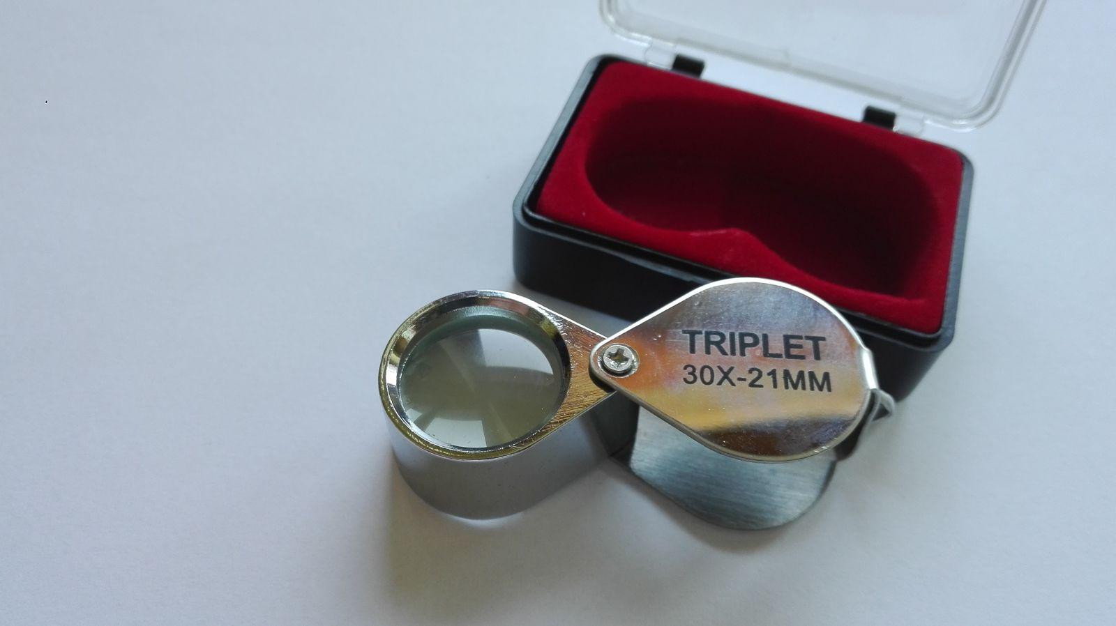 Kapesní lupa, 30x21 mm, krabička