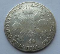 Rakousko 1/2 Tolar 1788 A Josef II.
